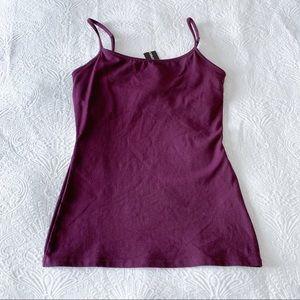 Express Purple Shelf Bra Cami Tank Top
